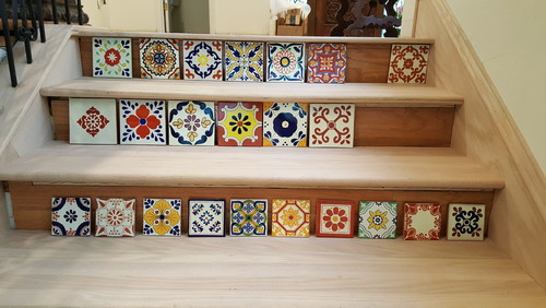 Charmant Talavera Tile On Stair Risers