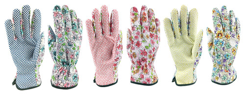 Printed Floral Cotton Woven Garden Gloves