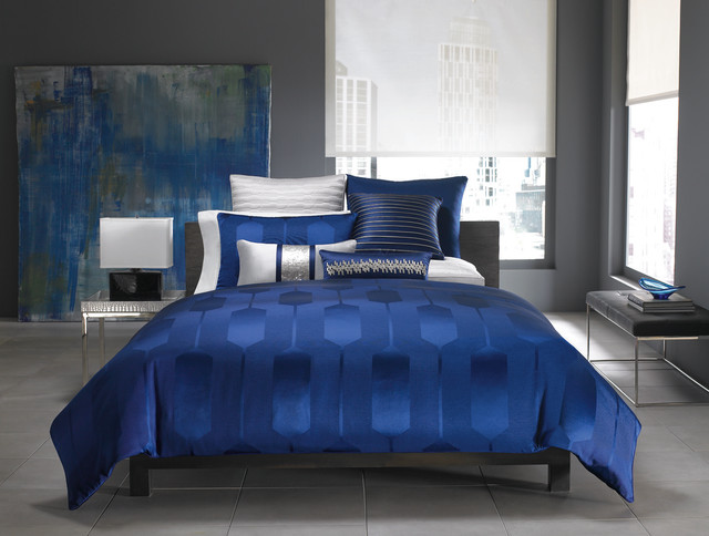 Hotel Collection Bedding Links Cobalt Collection