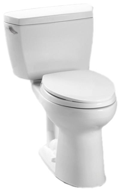 Toto Cotton White 2 Piece Drake Toilet With Elongated Bowl