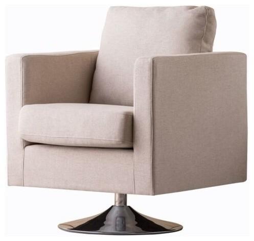 Hahn Mid Century Modern Swivel Armchair Contemporary Armchairs