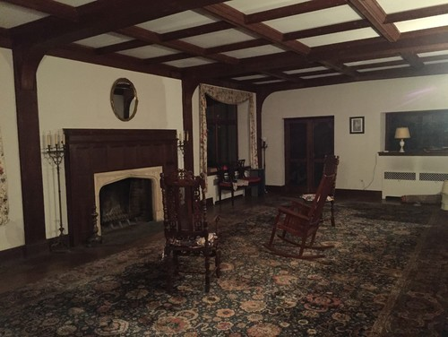 Furniture Placement In Large 35 4 X 18 10 Tudor Style Living Roo