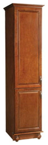 Montclair Chestnut Glaze Finish Linen Tower Cabinet with 2-Doors ...
