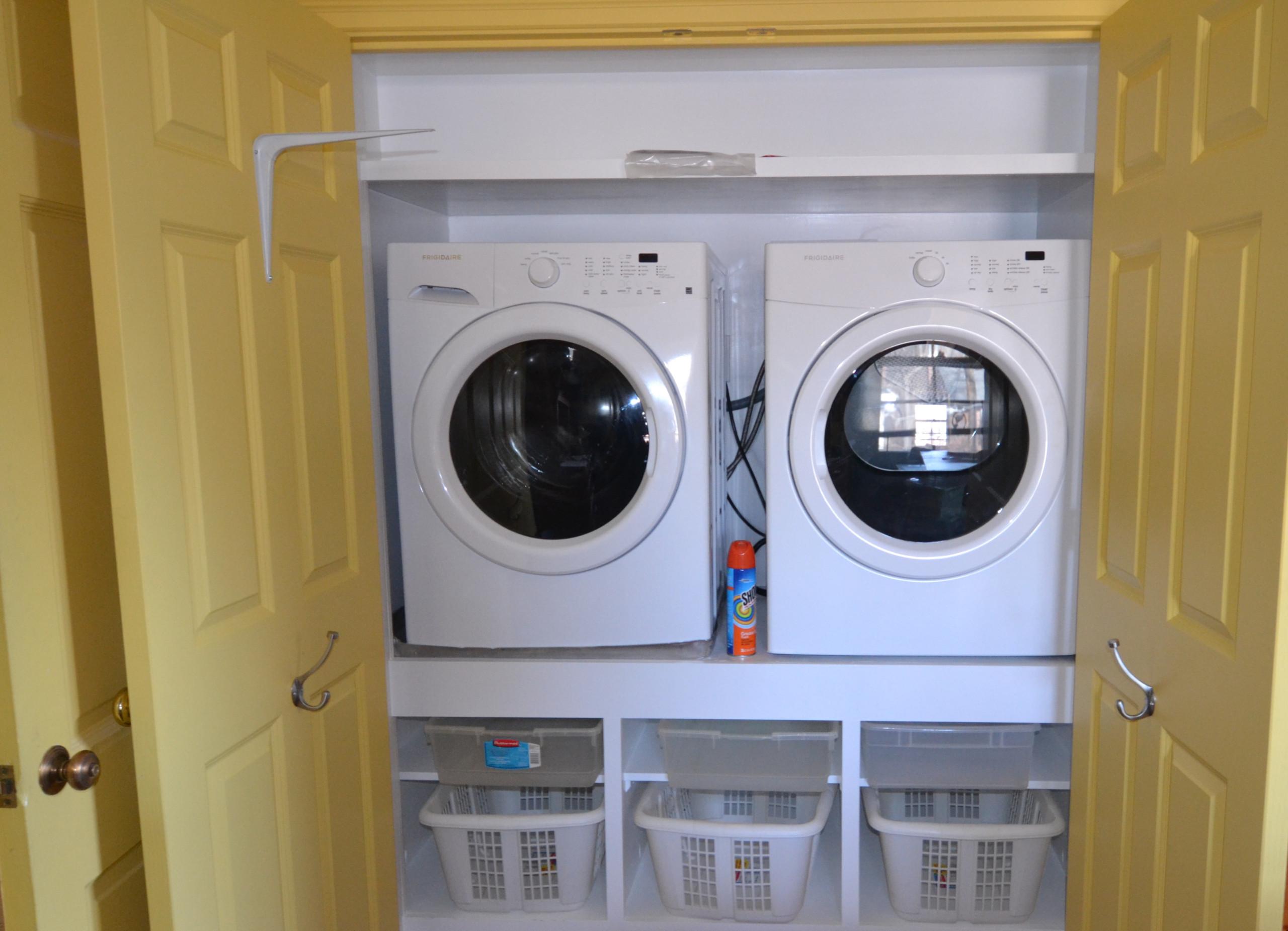 Custom laundry closet