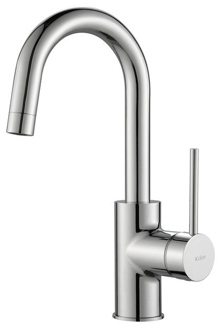 Kraus Oletto Single Handle Bar Faucet, Chrome Finish