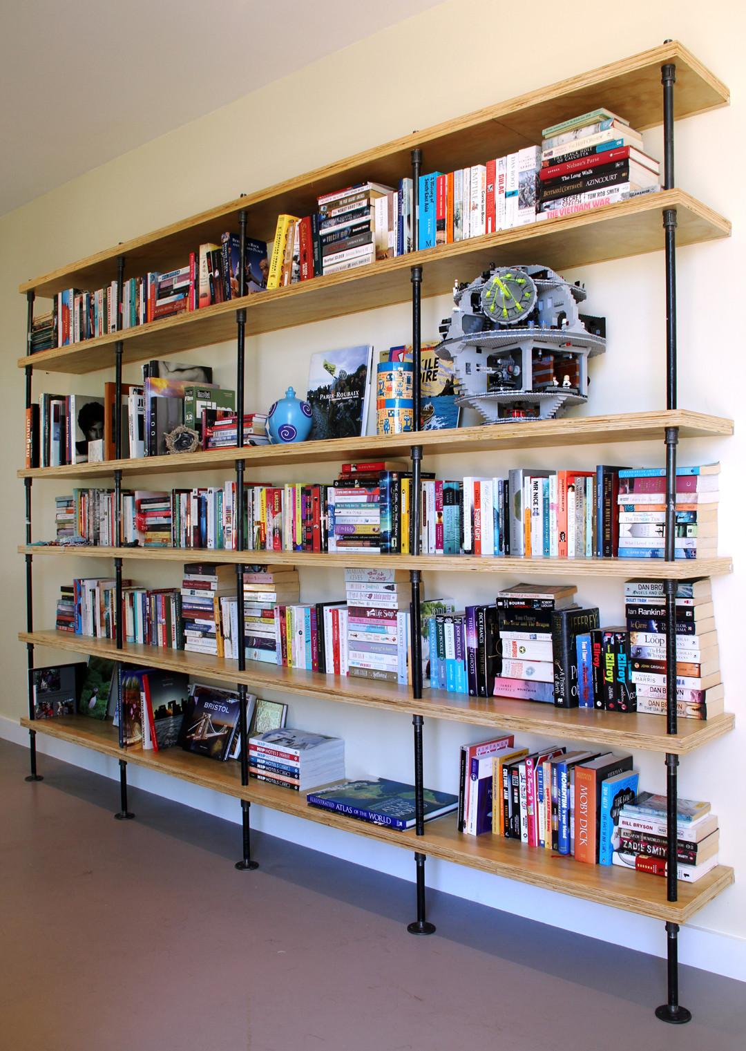 iron pipe bookcase