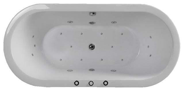 "Woodbridge 67"" Deluxe Whirlpool & Air Bubble Freestanding Bathtub."