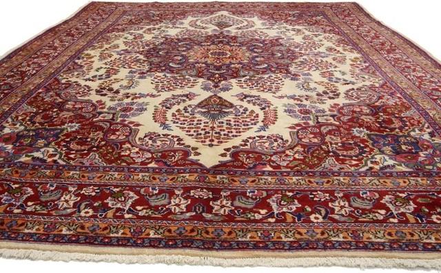 Vintage Persian Khoran Area Rug