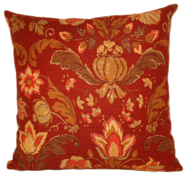 Leiston Square Throw Pillow, 20x20 - Traditional - Decorative Pillows - by Peter Taube Home