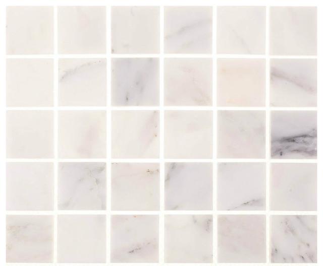 "Kitchen Tile Samples 12""x12"" aspen white marble square tile - traditional - mosaic tile"