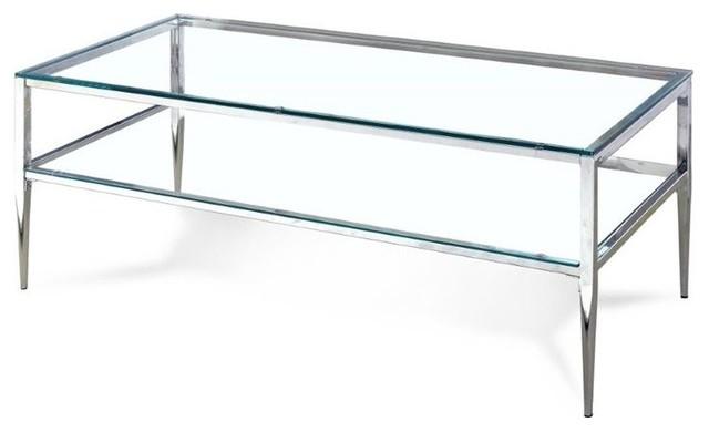 Furniture Of America Tanika Metal Coffee Table, Chrome