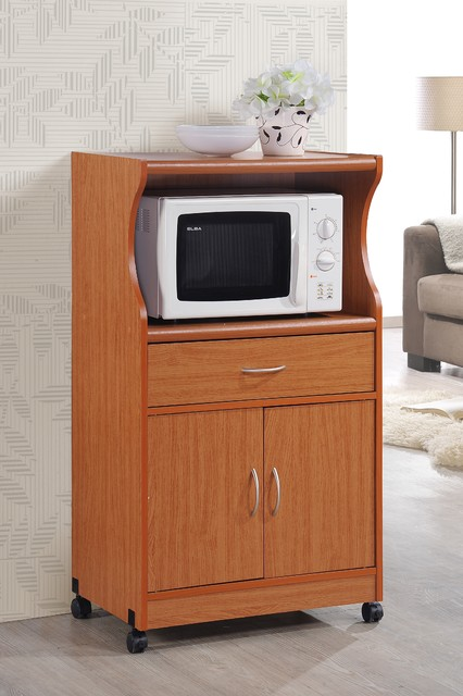 microwave cart cherry