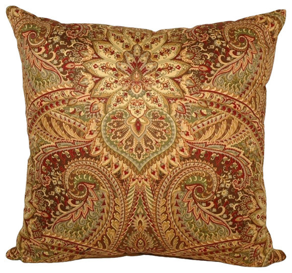 Raj Square 90/10 Duck Insert Throw Pillow With Cover, 16x16.