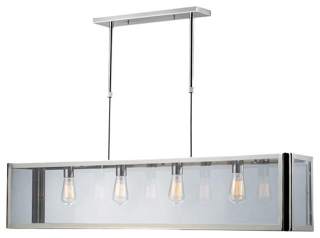 Modern Billiard Table Lights: ELK Lighting Parameters-Nickel 4-Light Billiard/Island