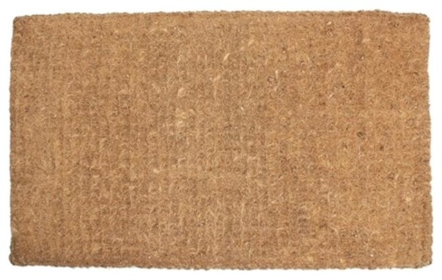 J And M Home Fashions Plain Imperial Coco Doormat, 24x39.