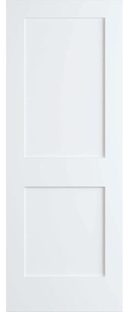 """2 Panel Shaker Passage Door Primed, 32""""x96""""x1.375""""."""