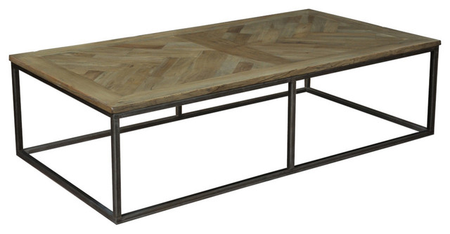 Alby cocktail table with driftwood finish southwestern for Southwestern coffee table