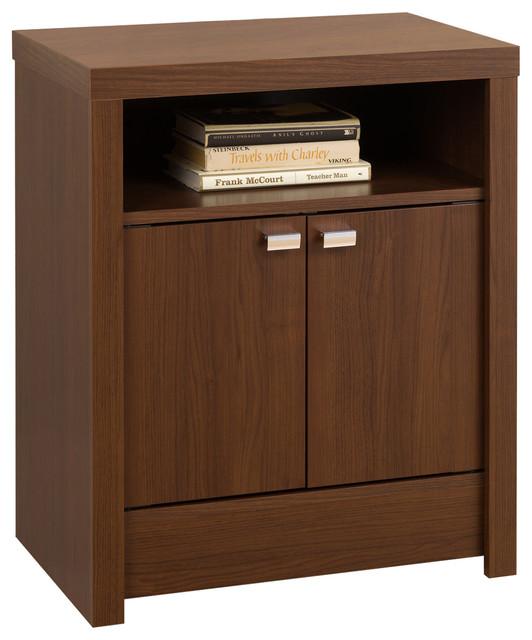 Prepac black series 9 designer 2 door tall nightstand for 30 tall black nightstand