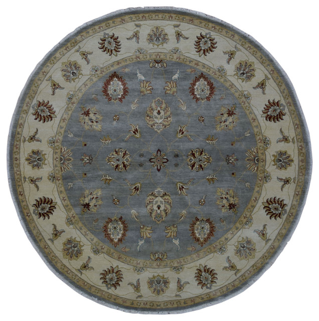 Fine Peshawar Round Rug 7u0026#39;9x7u0026#39;9 - Traditional - Area Rugs - by Fine Rug Collection