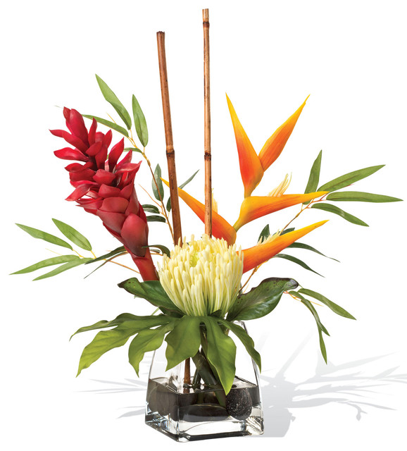 ginger accent artificial flower arrangement traditional rental faux for sale fake near me
