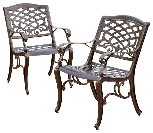 Covington Outdoor Cast Aluminum Dining Chairs Set Of 2