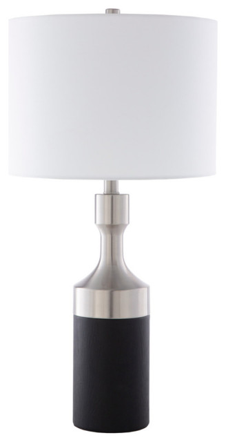 Surya Modern Memphis Table Lamp With Black and White Finish MPS-002