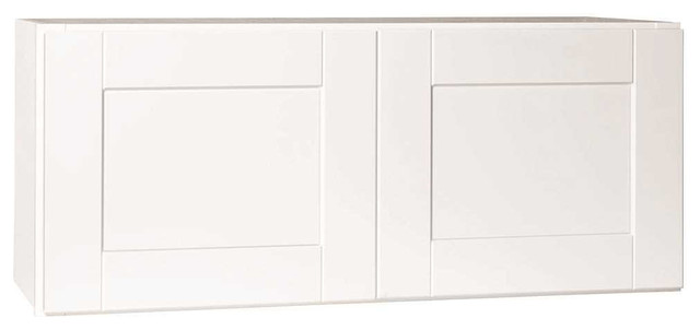 """Rsi Home Products Andover Shaker Wall Bridge Cabinet, White, 36""""x15""""."""