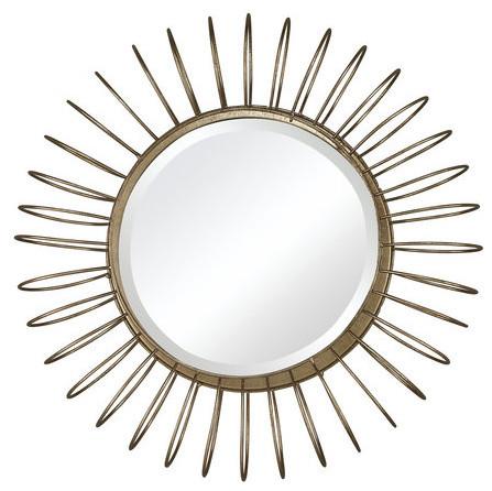 Sunkissed Wall Mirror, Gold Leaf.