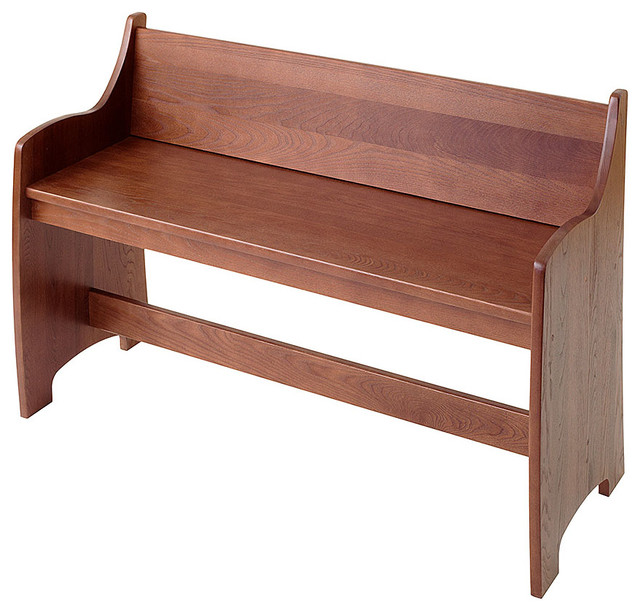 Shaker Pew Mudroom Bench Traditional Accent And