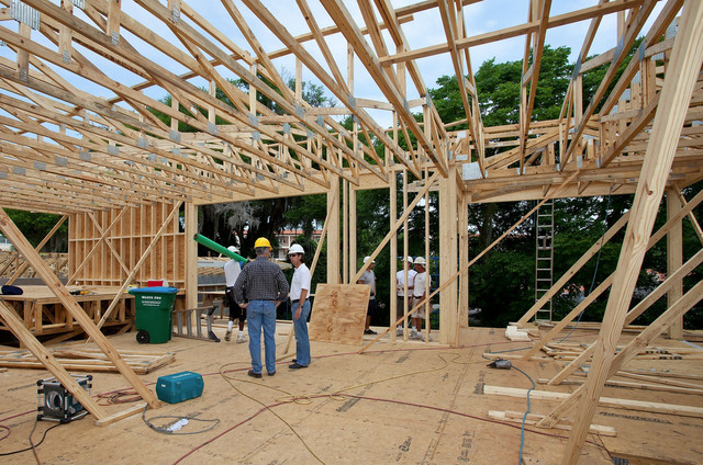 """2012 """"New American Home"""" under construction at the International Builders Show"""