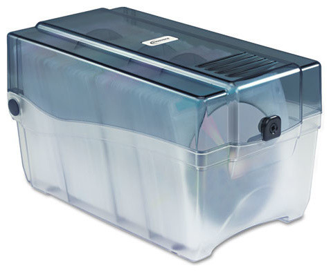 CD/DVD Storage Case, Holds 150 Discs - Contemporary - Media Cabinets - by Alliance Supply