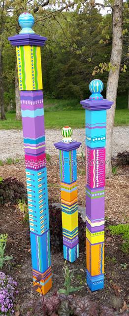 Garden Sculpture Totem Poles