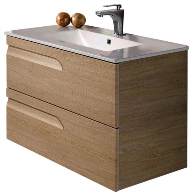 Modern Bath Vanity Concetto 5500 Elm Contemporary Bathroom Vanities And Sink Consoles By Concept Design Products