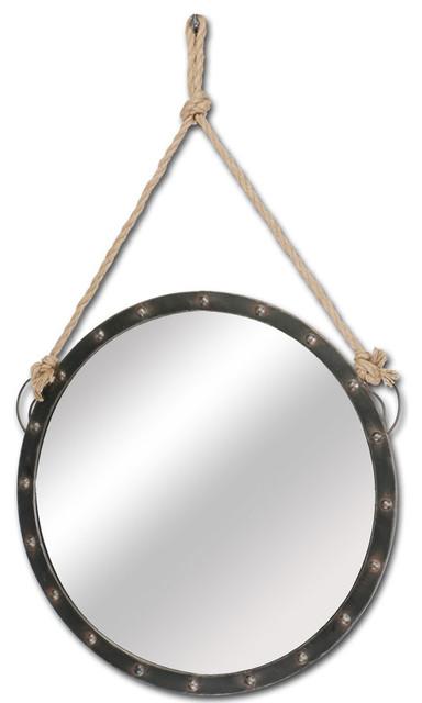 Mercana Coastal Mirror, Black.