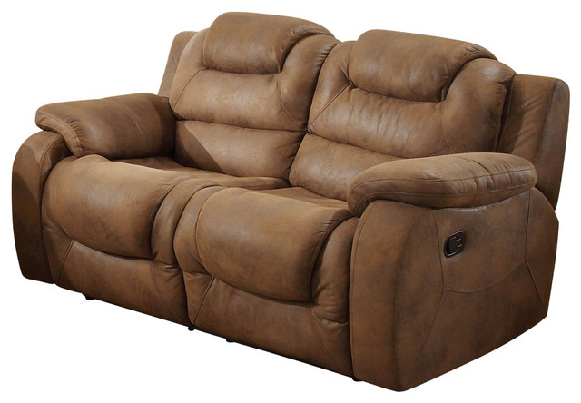 Homelegance Hoyt Double Reclining Loveseat in Bomber Jacket Microfiber traditional-loveseats  sc 1 st  Houzz & Homelegance Hoyt Double Reclining Loveseat in Bomber Jacket ... islam-shia.org
