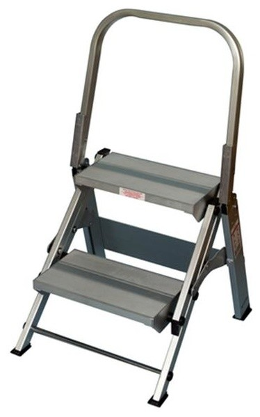 Core Distribution 2-Step Folding Safety Step Stool With Handrail.