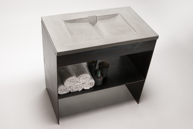 Concord Concrete Sink Modern Bathroom Sinks Phoenix By Gore Design Co Llc