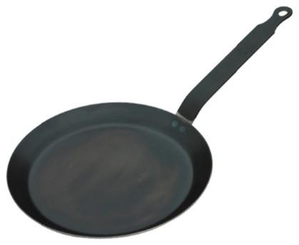 """De Buyer 9.5"""" Blue Steel Crepe Pan."""