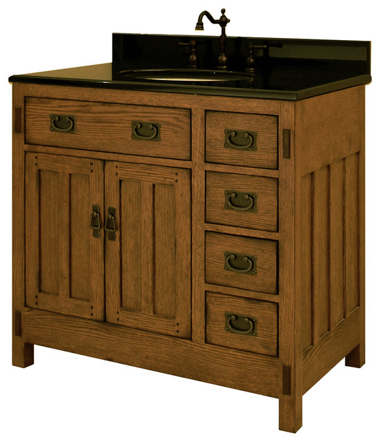 craftsman bathroom cabinets 36 quot american craftsman single bath vanity ac3621d 12572