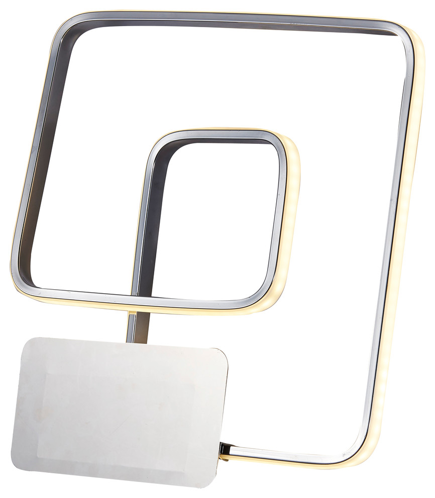 Finesse Decor Modern Square Double Wall Sconce