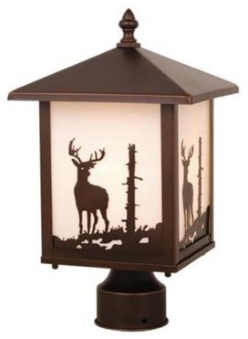 Vaxcel Bryce 8 Outdoor Post Light - Burnished Bronze.