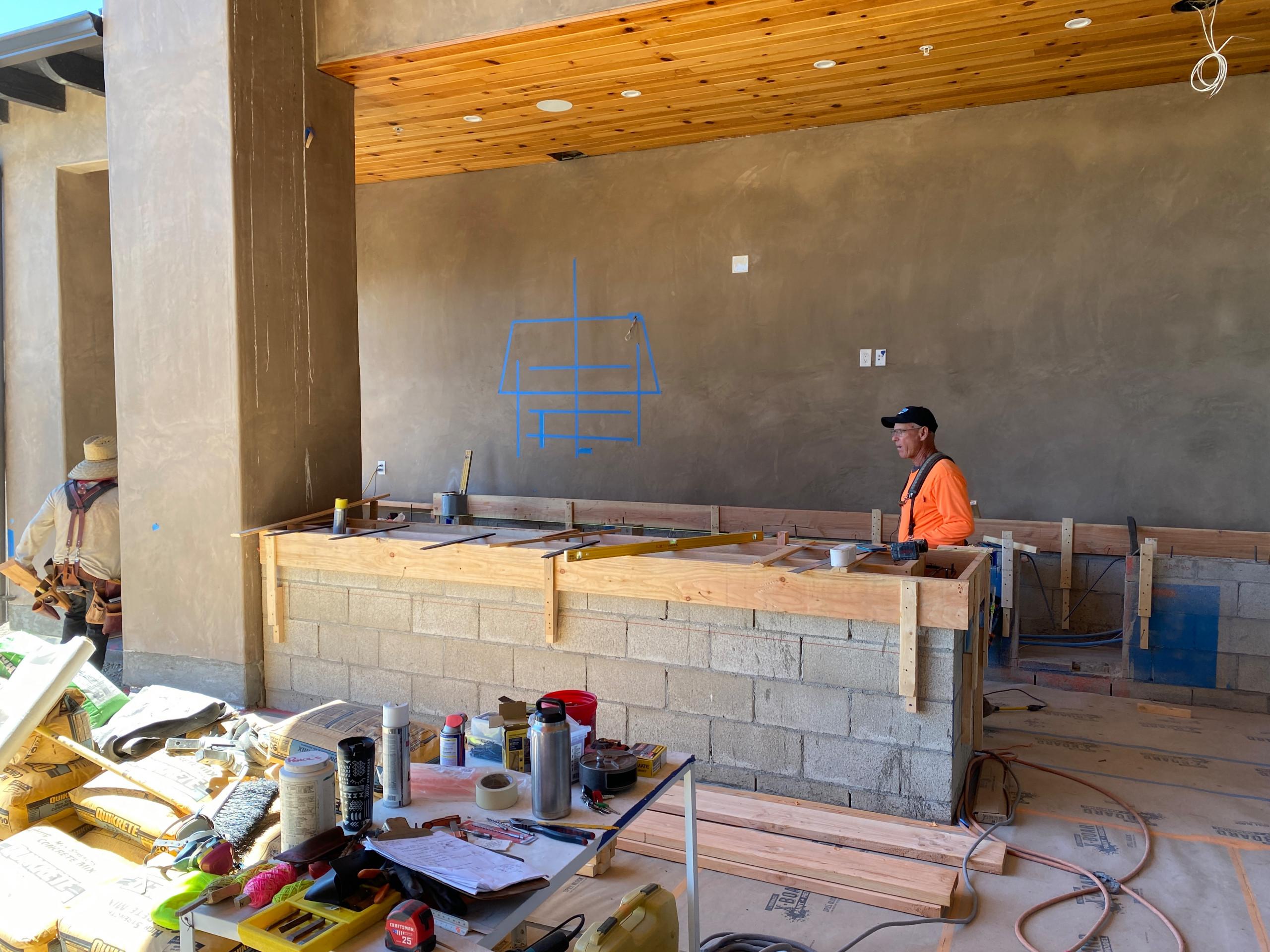 Building an Outdoor Kitchen in Rancho Cielo, Rancho Santa Fe