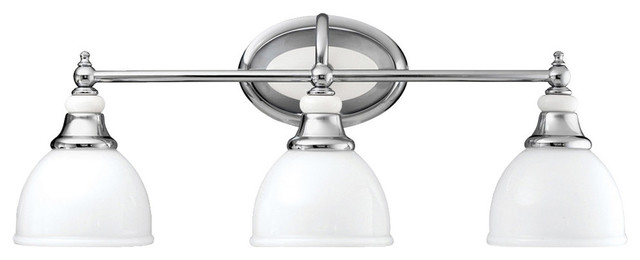 Pocelona 3-Light Bathroom Vanity Lights, Chrome.