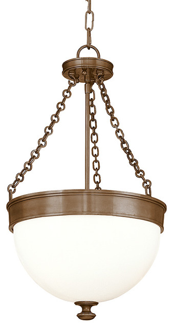 Hudson Valley Lighting Barrington Historic Bronze Pendant Light W/ 3 Light 100w.
