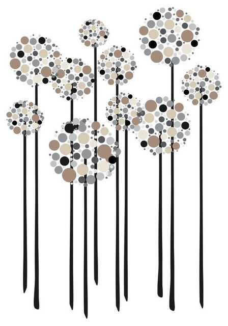 Neutral Floral Dot Peel and Stick Giant Wall Decals ...