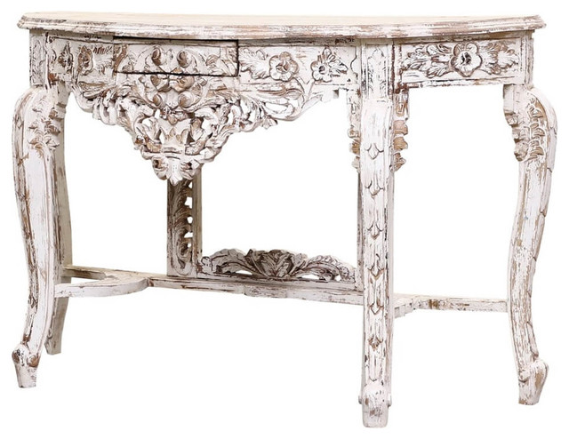Sevran Shabby Chic Handcrafted Solid Wood French Console