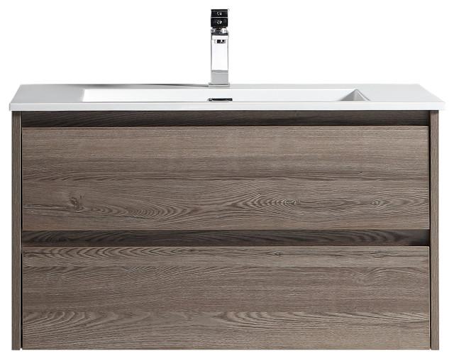 The Marlow Single Bathroom Floating Vanity Modern Bathroom Vanities And Sink Consoles By Flairwood Decor Houzz