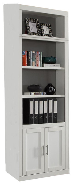"Parker House Catalina 32"" Open Top Bookcase, Cottage White."