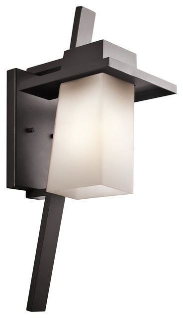 Stonebrook 1-Light Outdoor Wall Mount, Architectural Bronze.