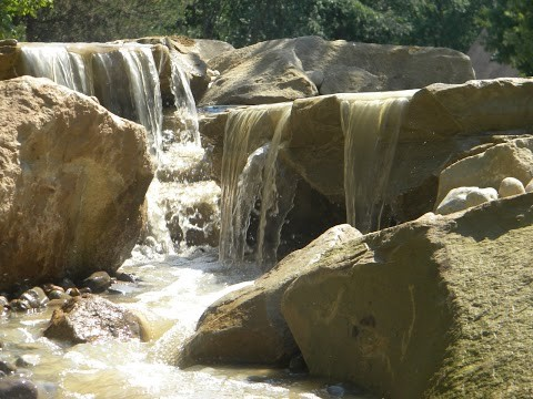 Carved Stones and Stream Waterfeature